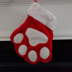 Dog/cat paw Christmas stocking